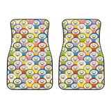 Colorful Daruma Pattern Front Car Mats
