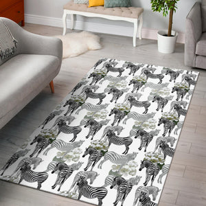 Zebra Pattern Area Rug