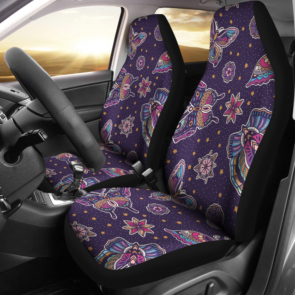 Butterfly Star Pokka Dot Pattern Universal Fit Car Seat Covers