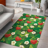 Strawberry Leaves Pattern Area Rug