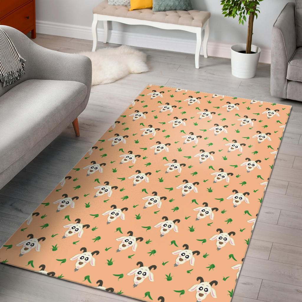 Goat Glass Pattern Area Rug