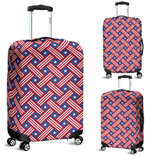 USA Star Stripe Pattern Luggage Covers