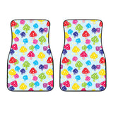 Colorful Mushroom Pattern Front Car Mats