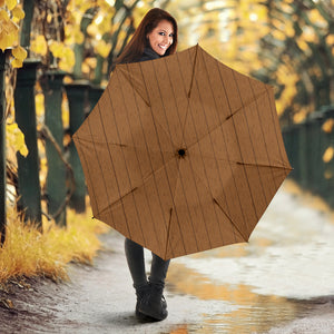 Wood Printed Pattern Print Design 03 Umbrella