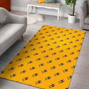 Ninja Weapon Pattern Area Rug
