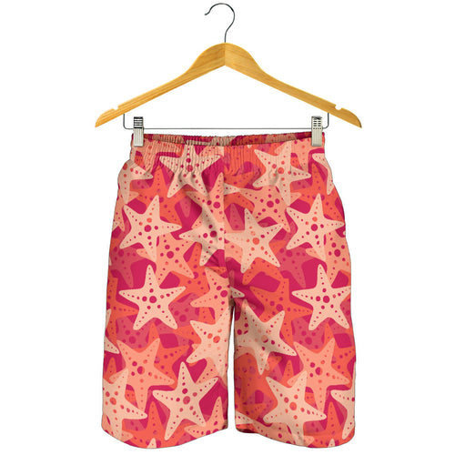 Starfish Red Theme Pattern Men Shorts