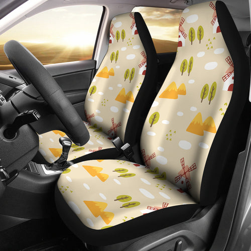 Windmill Pattern Universal Fit Car Seat Covers