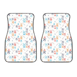 Hand Drawn Windmill Pattern Front Car Mats