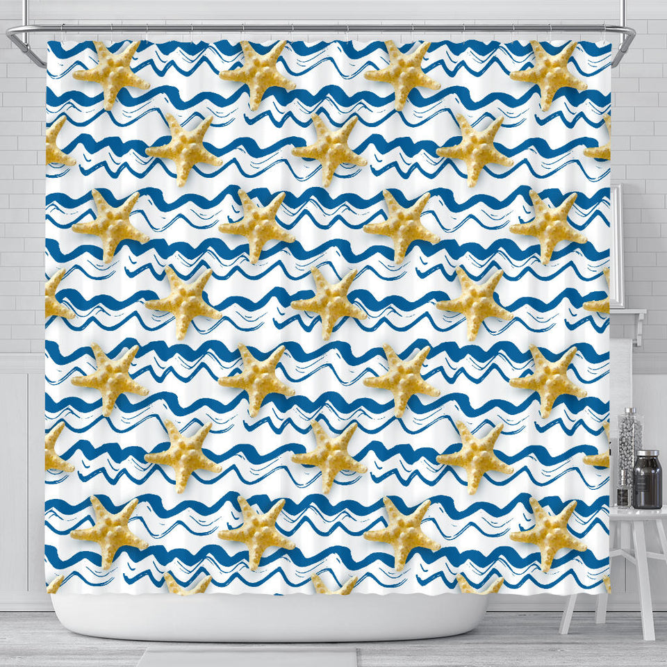 Starfish Pattern Shower Curtain Fulfilled In US