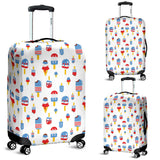Ice Cream USA Theme Pattern Luggage Covers