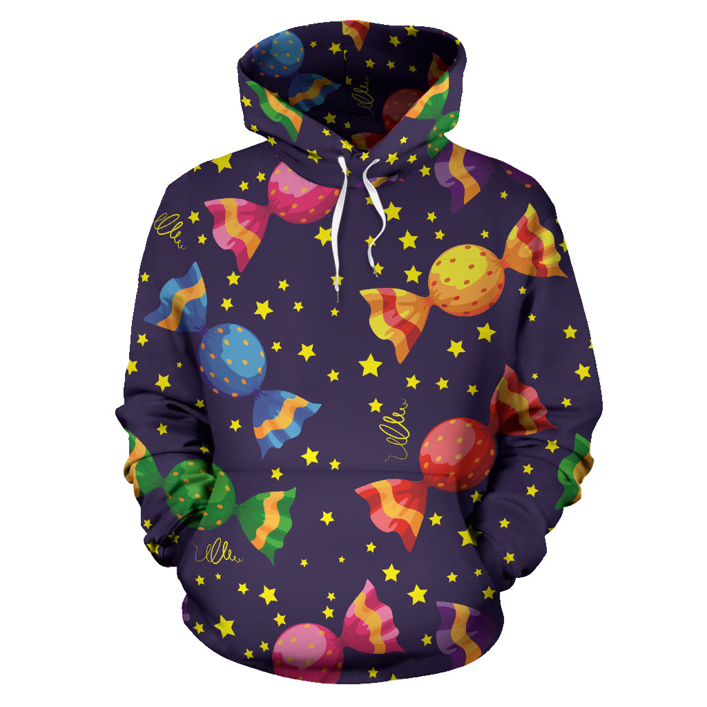 Candy Star Pattern Men Women Pullover Hoodie