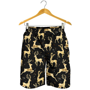 Gold Deer Pattern Men Shorts