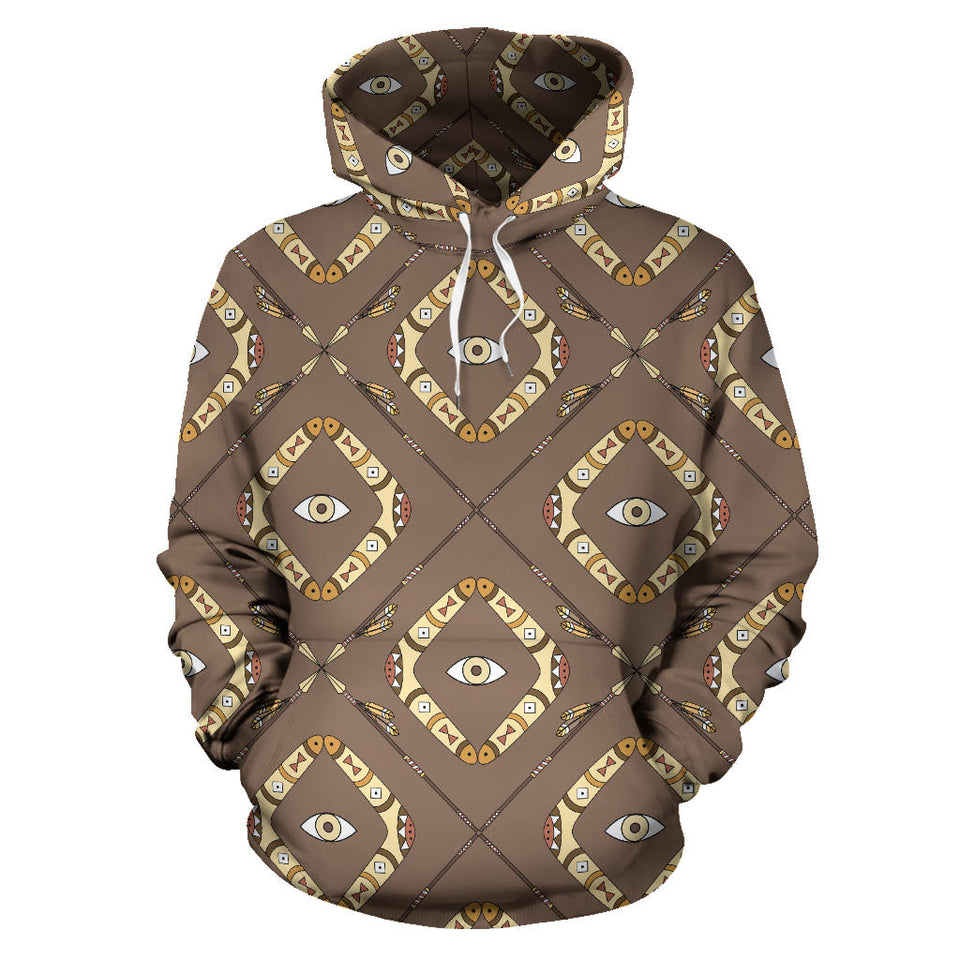 Traditional Boomerang Aboriginal Pattern Men Women Pullover Hoodie