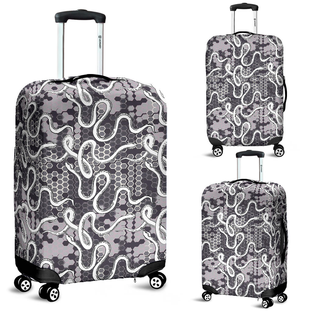 Snake Gray Pattern Luggage Covers