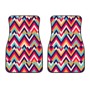 Zigzag Chevron Pattern Background Front Car Mats