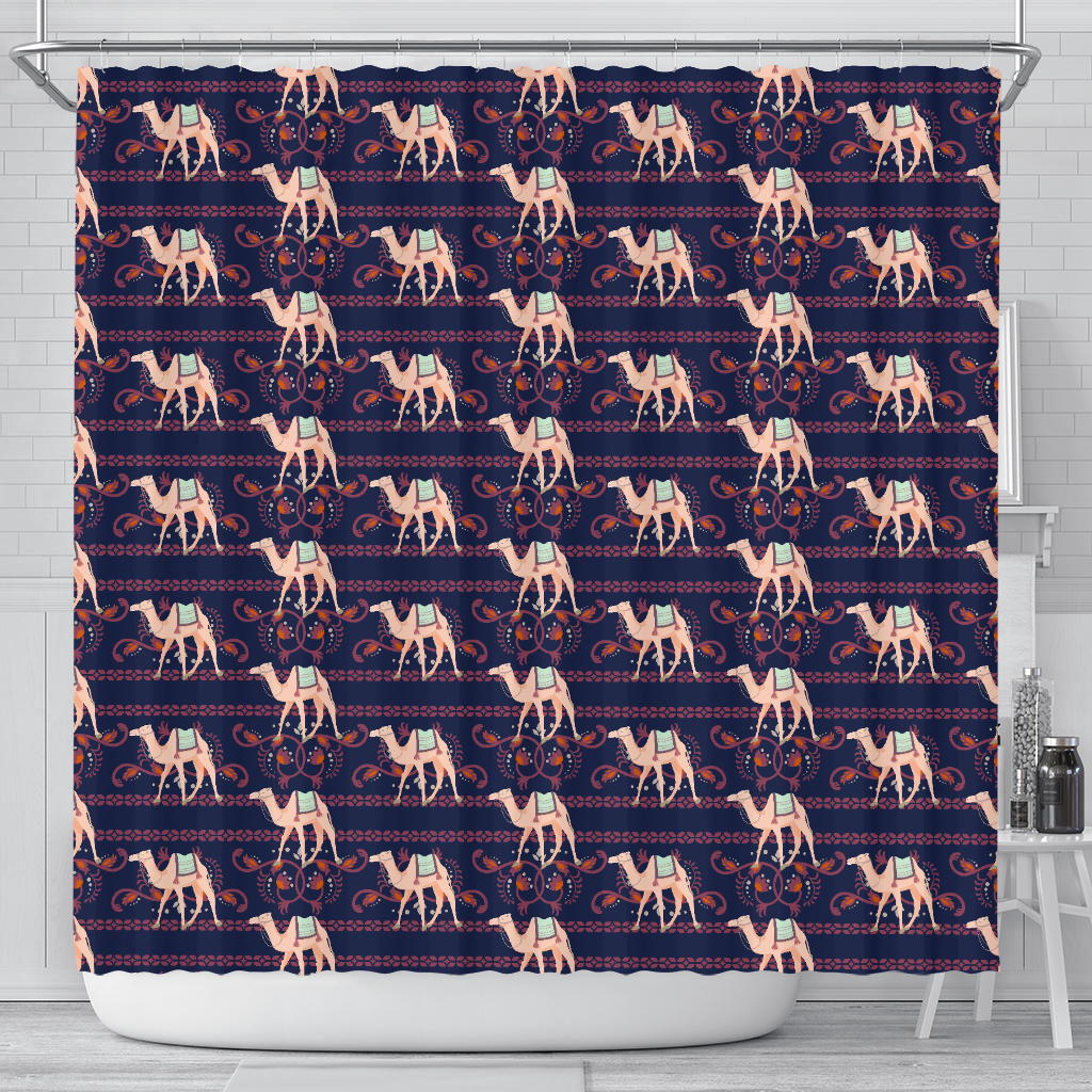 Camel Pattern Shower Curtain Fulfilled In US