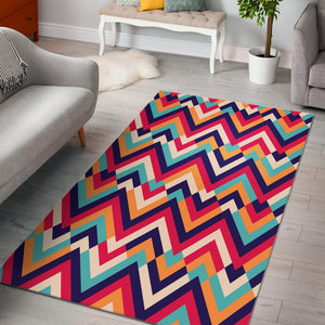 Zigzag Chevron Pattern Background Area Rug