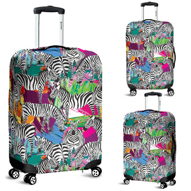 Zebra Colorful Pattern Luggage Covers