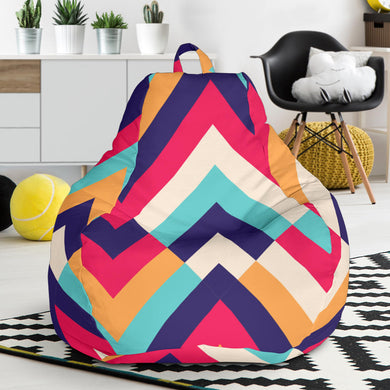 Zigzag Chevron Pattern Background Bean Bag Chair