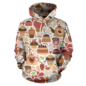 Hand Drawn Cake Pattern Men Women Pullover Hoodie