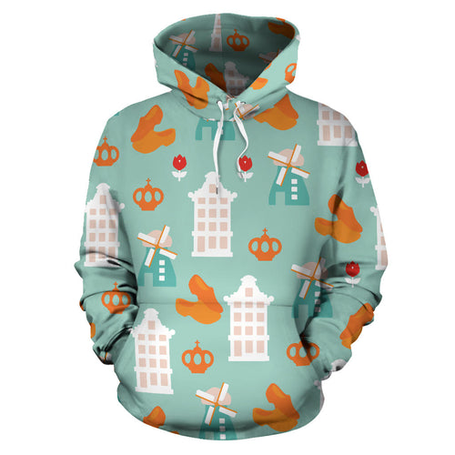 Windmill Pattern Theme Men Women Pullover Hoodie