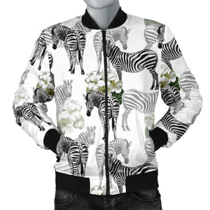 Zebra Pattern Men Bomber Jacket