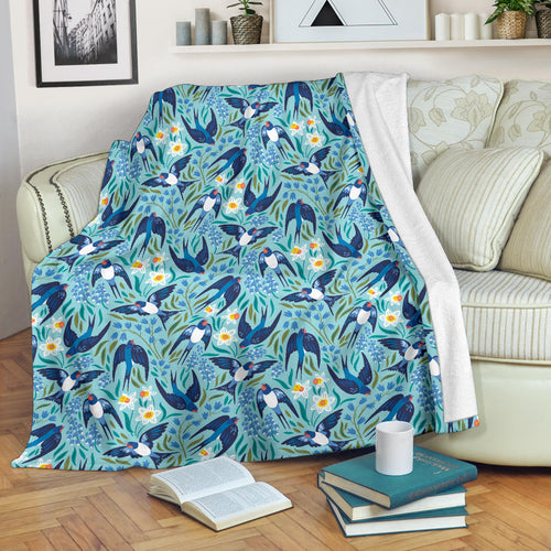 Swallow Pattern Print Design 05 Premium Blanket