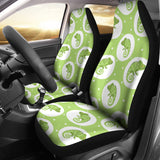 Chameleon Lizard Circle Pattern Universal Fit Car Seat Covers