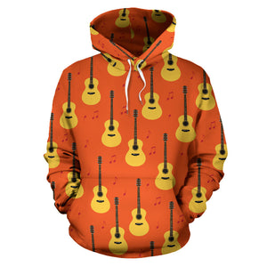 Classice Guitar Music Pattern Men Women Pullover Hoodie