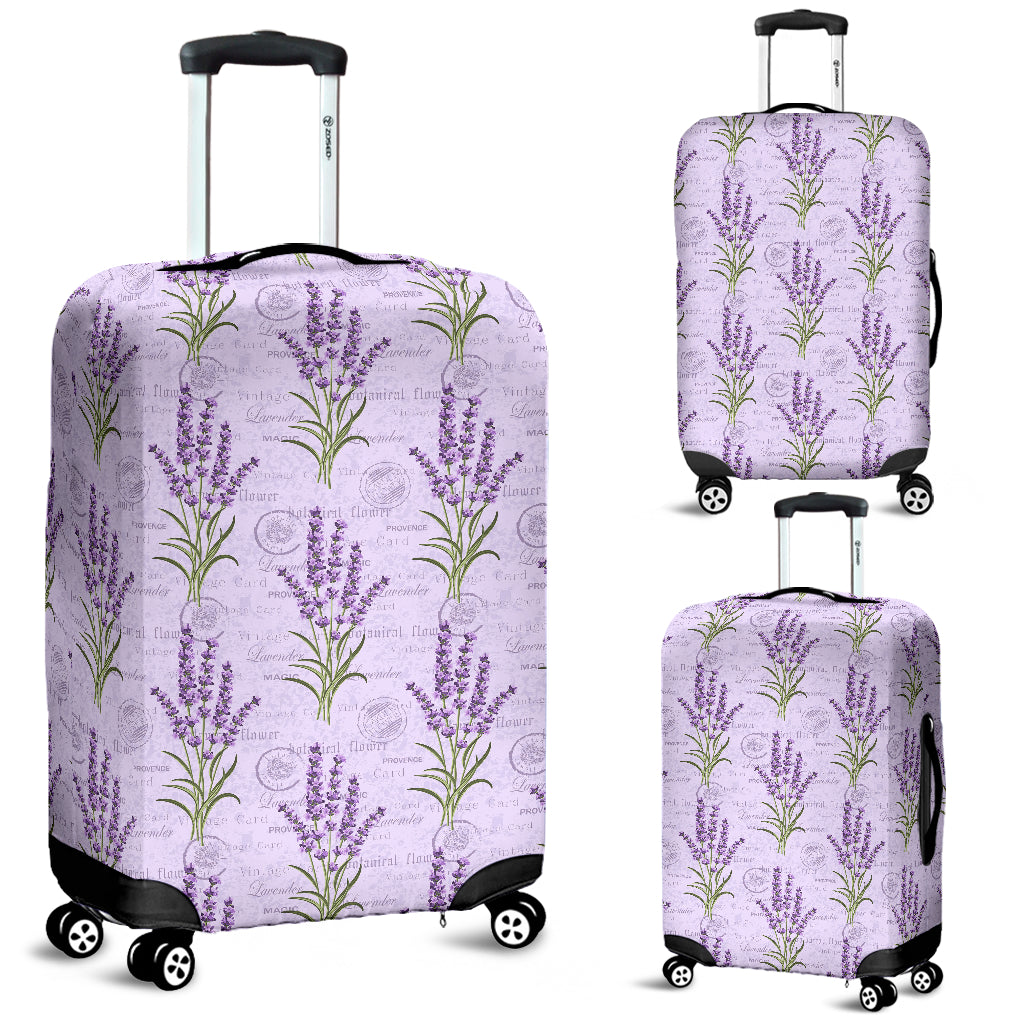Lavender Pattern Background Luggage Covers