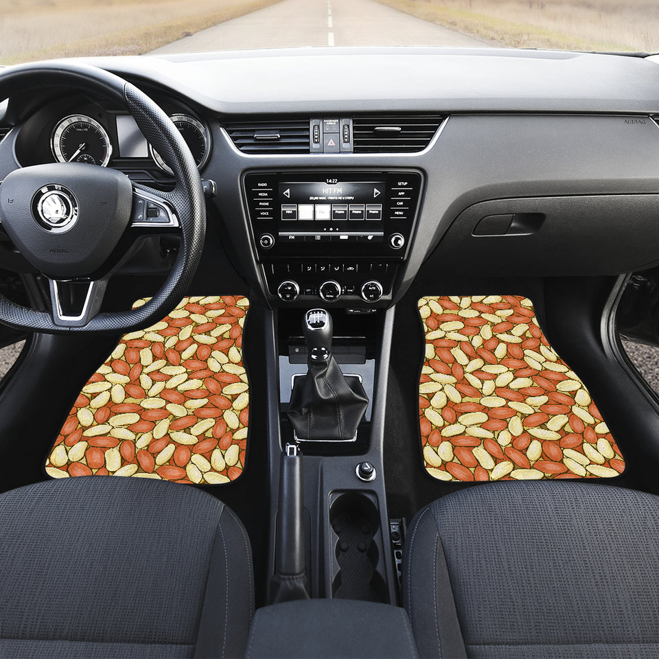 Peanut Pattern Background Front Car Mats