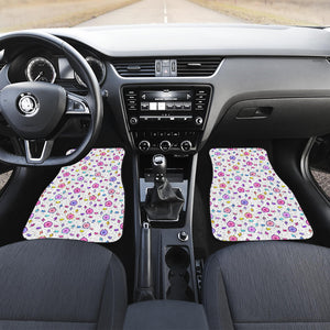 Alarm Clock Pattern Front Car Mats