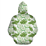 Sliced Cucumber Leaves Pattern Pullover Hoodie