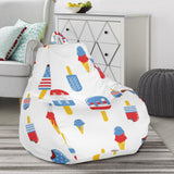 Ice Cream USA Theme Pattern Bean Bag Chair