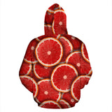 Sliced Grapefruit Pattern Background Pullover Hoodie
