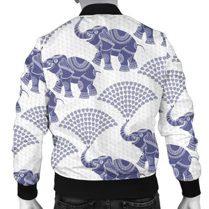 Elephant Pattern Background Men Bomber Jacket