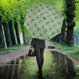 Windmill Green Pattern Umbrella