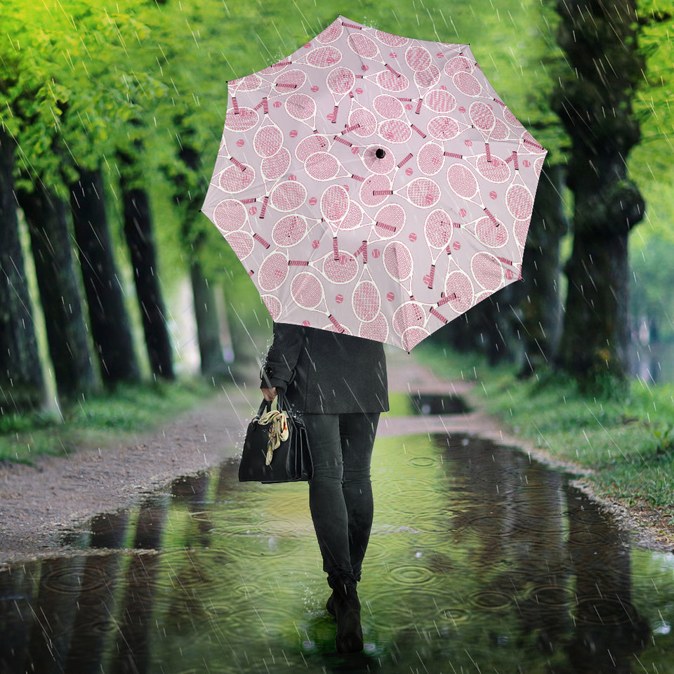 Tennis Pattern Print Design 02 Umbrella