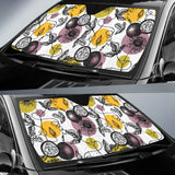 Passion Fruit Pattern Background Car Sun Shade