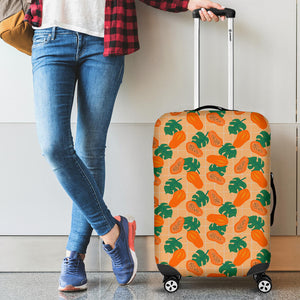 Papaya Leaves Pattern Luggage Covers