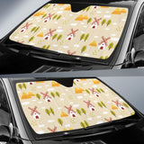 Windmill Pattern Car Sun Shade