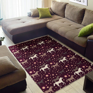 Horse Pattern Background Area Rug