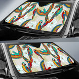 Parrot Flower Pattern Car Sun Shade