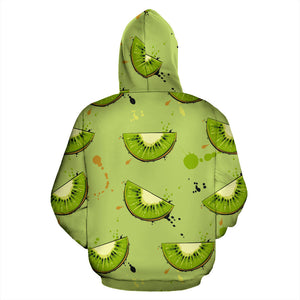 Kiwi Pattern Background Pullover Hoodie
