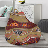Kangaroo Aboriginal Pattern Bean Bag Chair