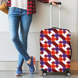 Boomerang Pattern Background Luggage Covers
