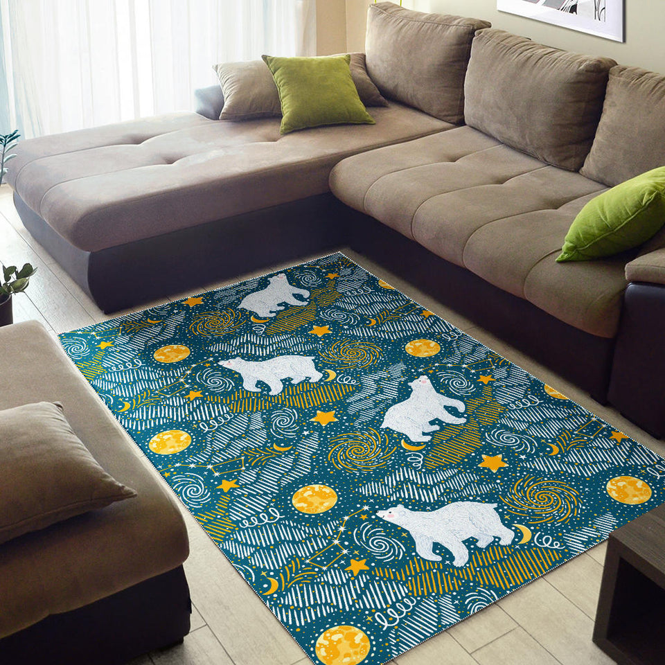 Polar Bear Pattern Area Rug