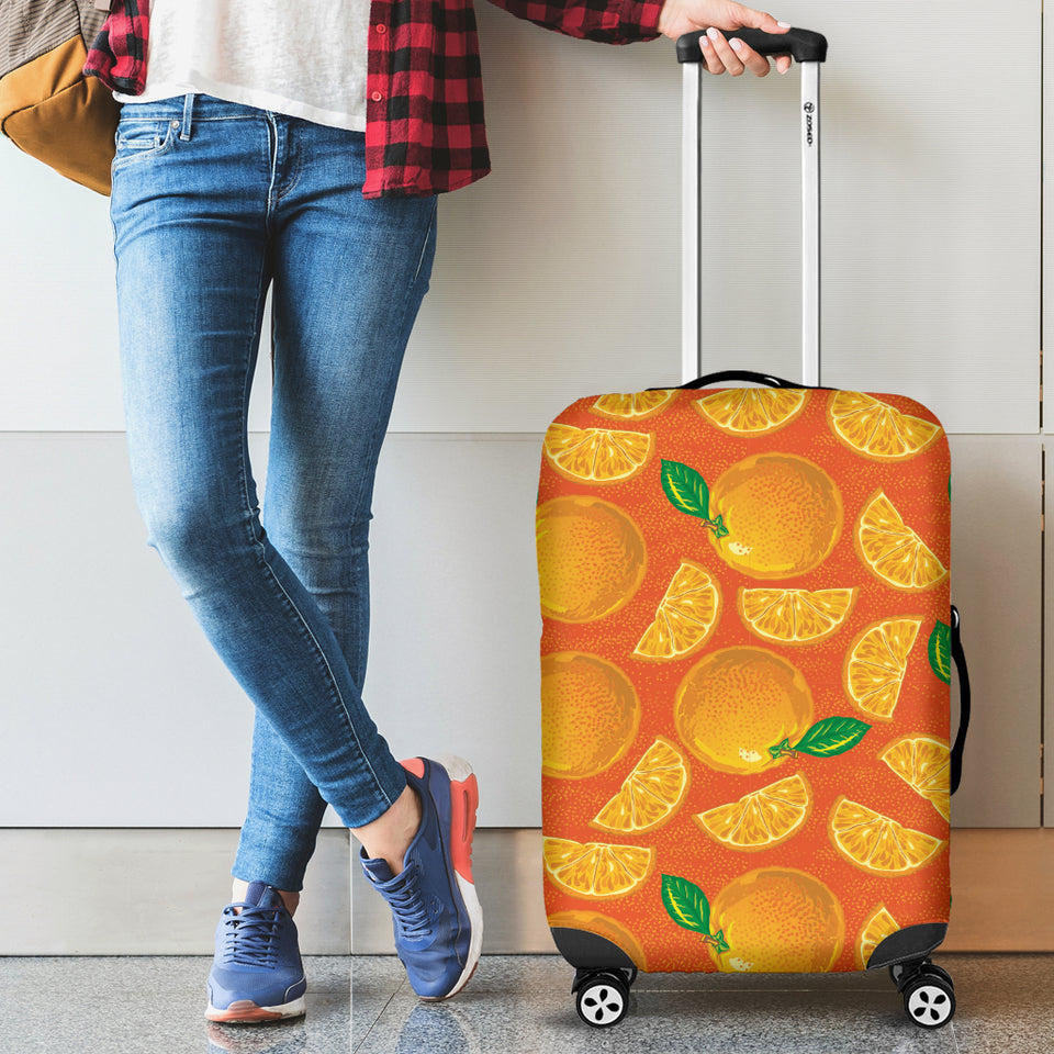 Orange Pattern background Luggage Covers