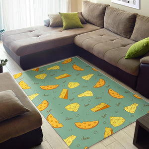 Cheese Pattern Background Area Rug