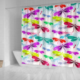 Colorful Dragonfly Pattern Shower Curtain Fulfilled In US
